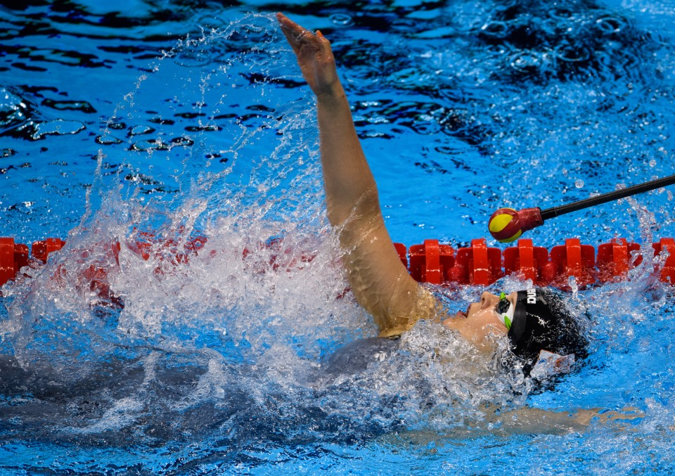 Liesette Bruinsma NED competes during Heat 1 of the Women's 100m Backstroke - S11at the Olympic Aquatics Stadium. The Paralympic Games, Rio de Janeiro, Brazil, Friday 9th September 2016. Photo: Bob Martin for OIS/IOC. Handout image supplied by OIS/IOC