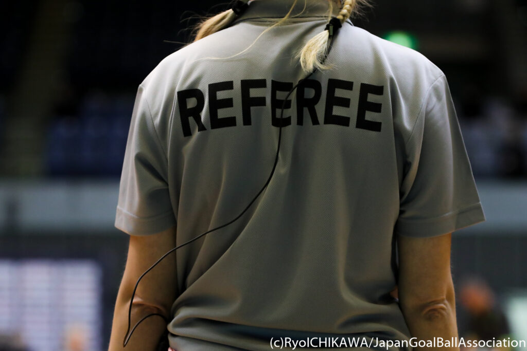 Referee call for goalball Americas Championships