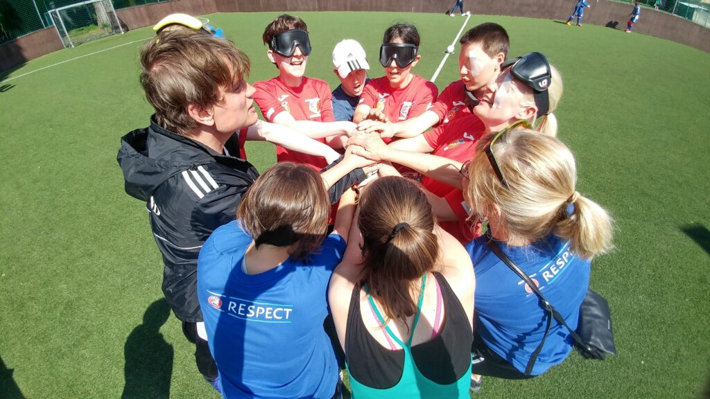 Blind football offers online coaching
