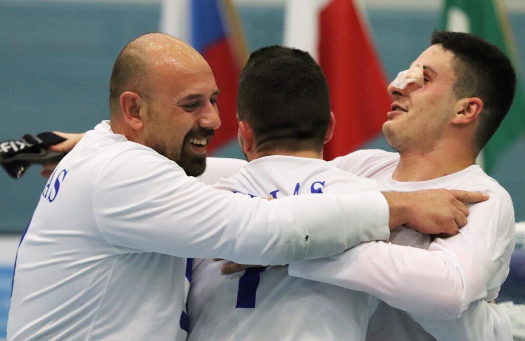 Gold for Greece at goalball Euros B